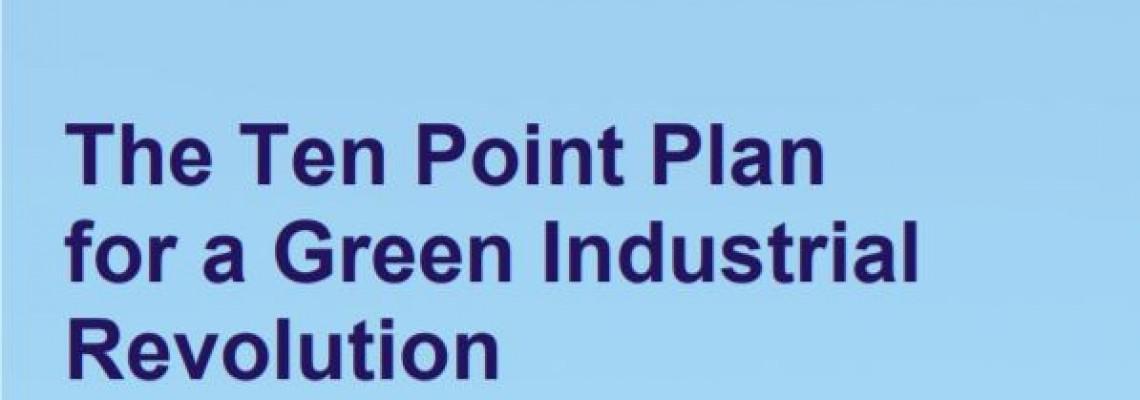 Ten point plan for a green industrial revolution